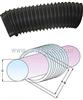 鑫万通圆筒式丝杠防护罩,圆形、方形护罩,机床防护罩系列